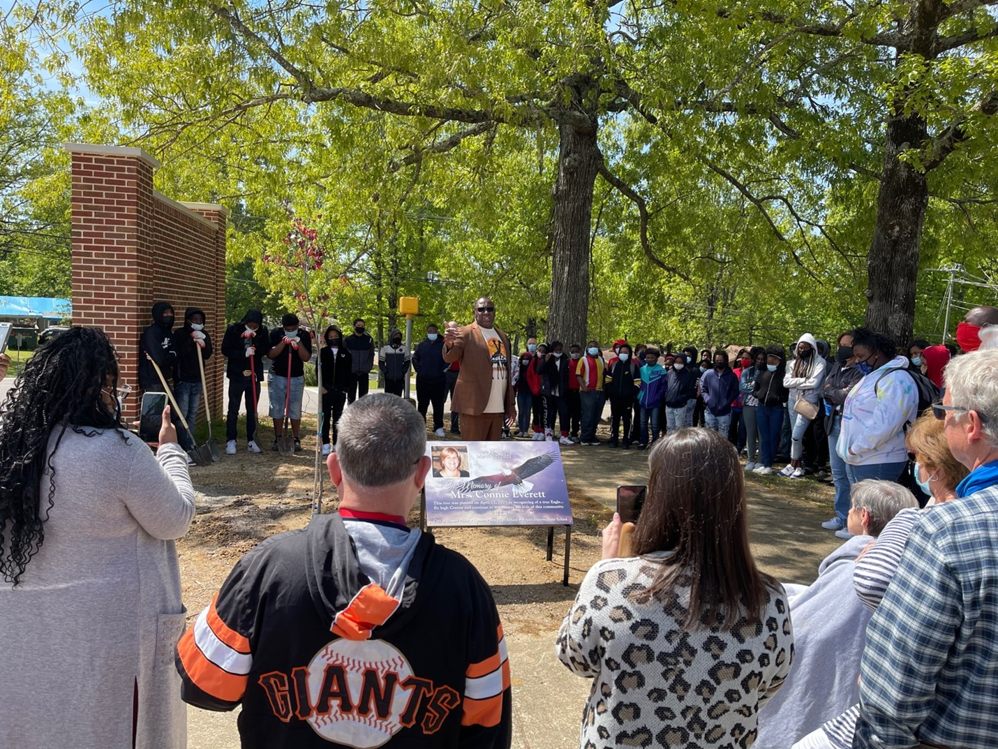 City of Center Point hosts tree-planting ceremonies in honor of teacher Connie Everett