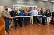 Sherwin Williams celebrates ribbon cutting in Moody
