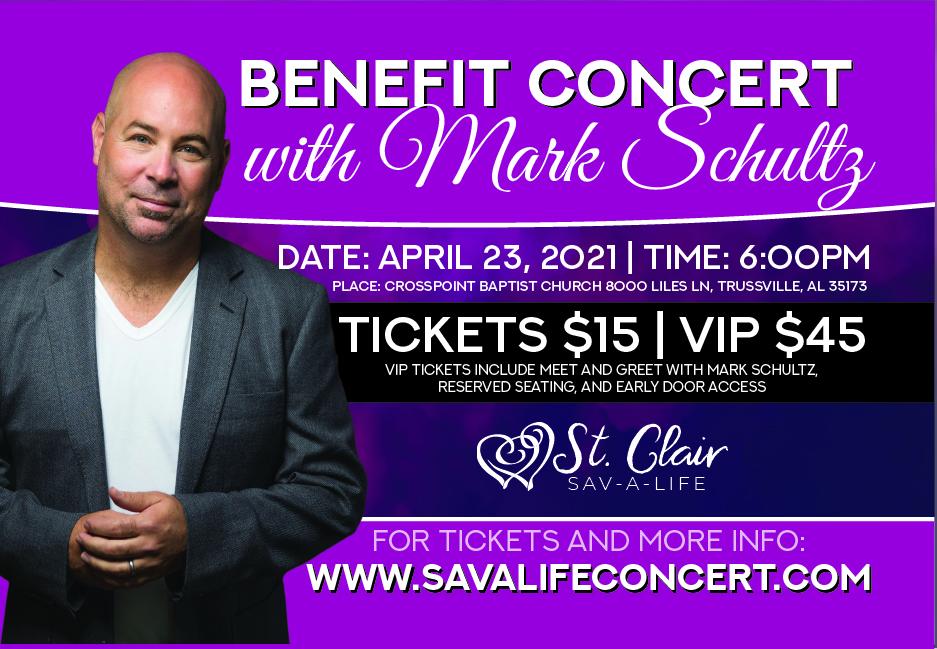 St. Clair Savalife hosting fundraising concert featuring Mark Schulz