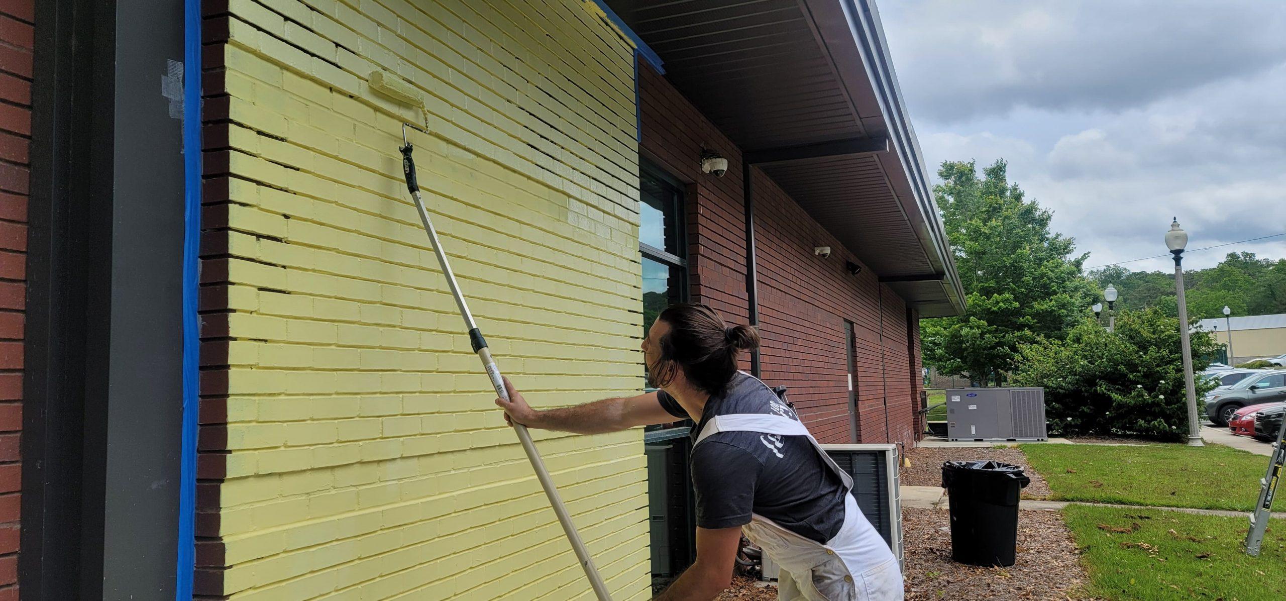 Work on Trussville Library mural underway