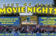 City of Clay Movie Nights to begin May 21