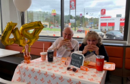 Local couples celebrates anniversary at Whataburger
