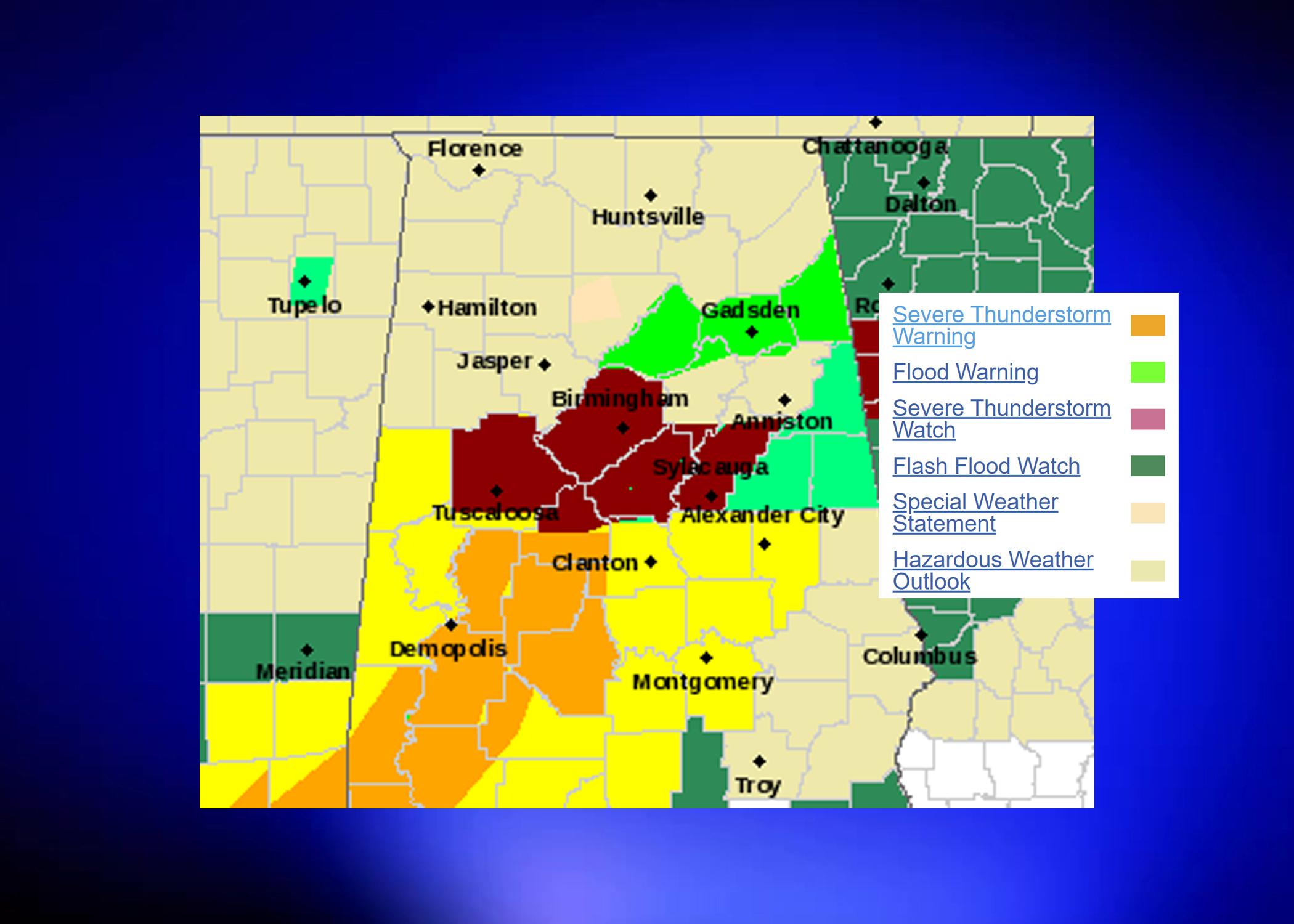 Flash Flood Emergency issued for Birmingham-metro