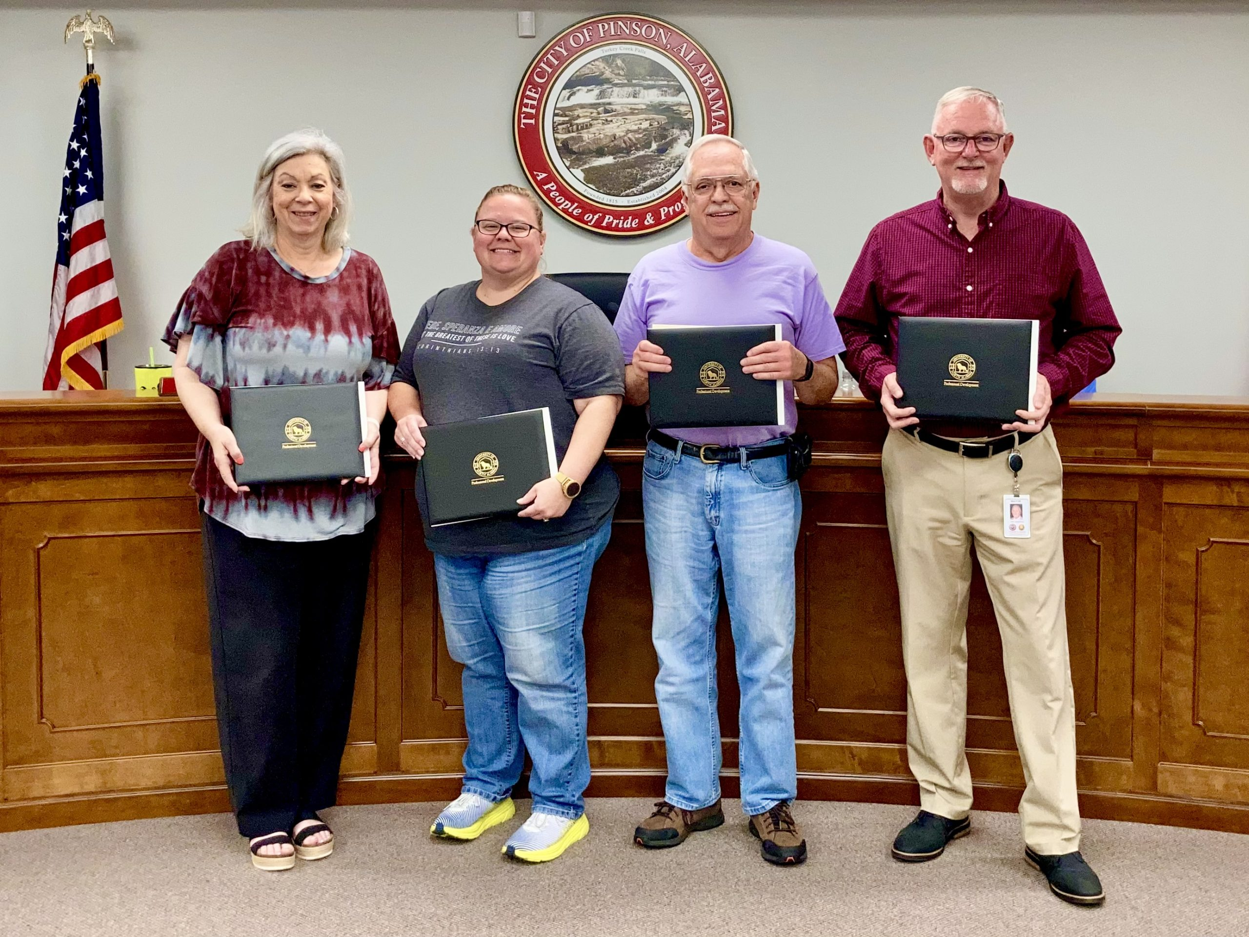 City of Pinson recognizes certified Planning and Zoning officials, passes 2021-2022 budget