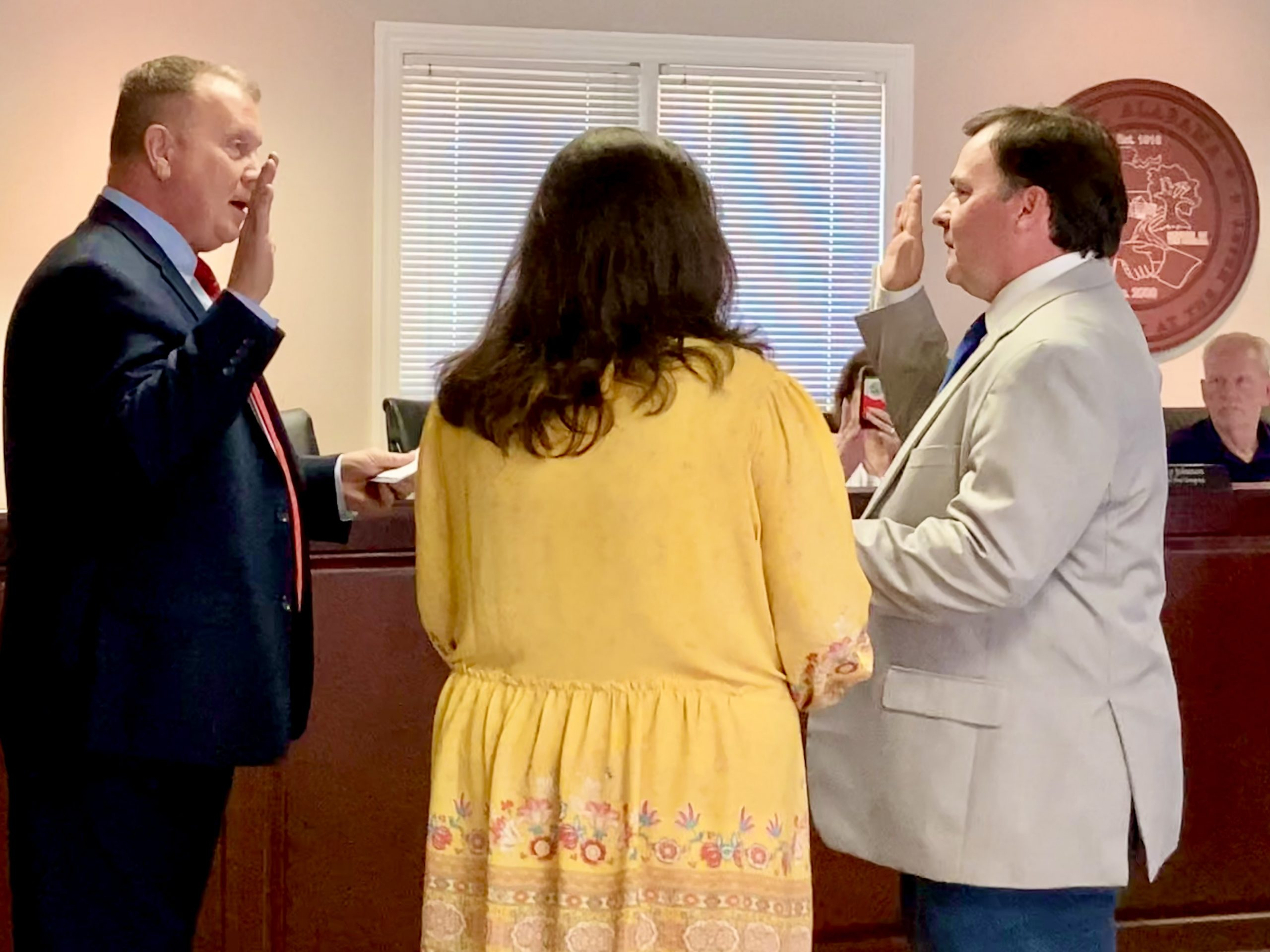 City of Clay swears in Chris Nail to Council Place 5