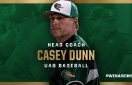 UAB announces Samford's Casey Dunn as next head baseball coach