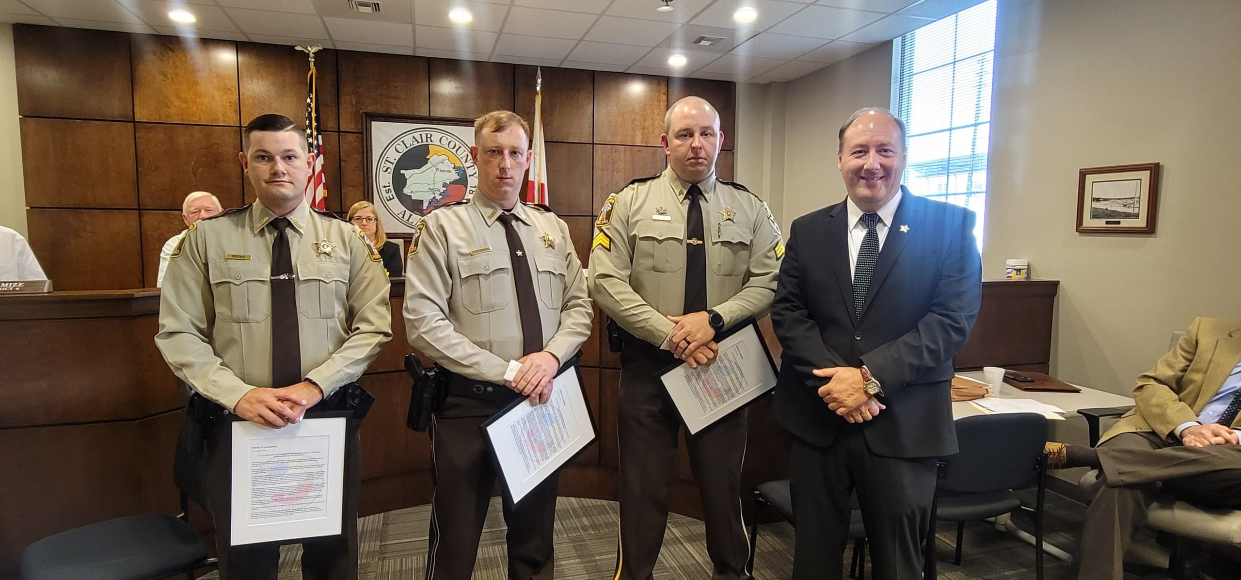 St. Clair County Deputies honored for 'selfless acts of bravery' after pulling family out of submerged SUV
