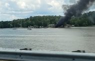 Boat explodes on Logan Martin Lake