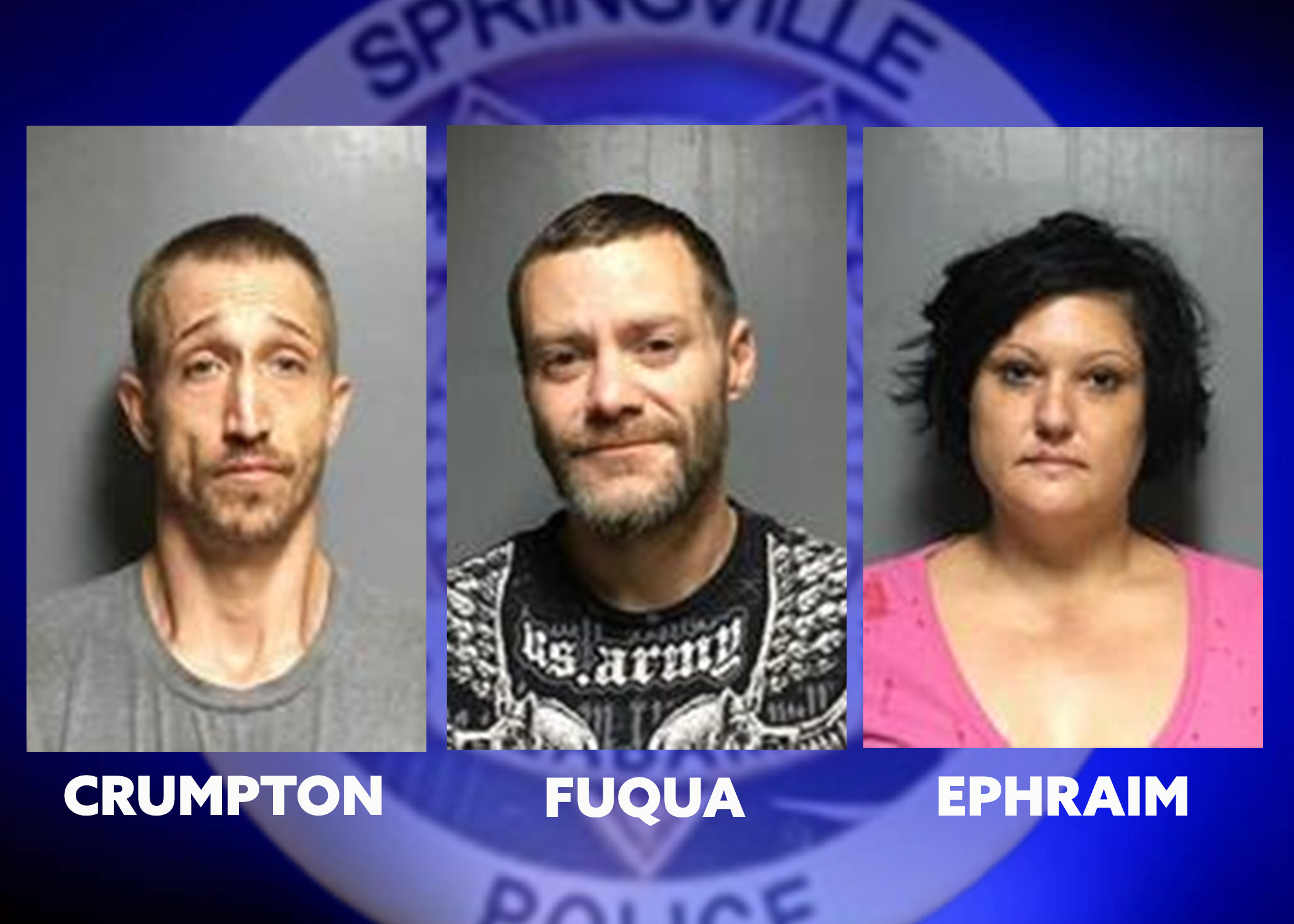ATV, equipment stolen from Springville ballpark, 3 arrested