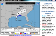 Hazardous weather ahead for the weekend as tropical system approaches