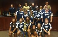 Lady Devils 10U softball champions recognized at Moody council meeting