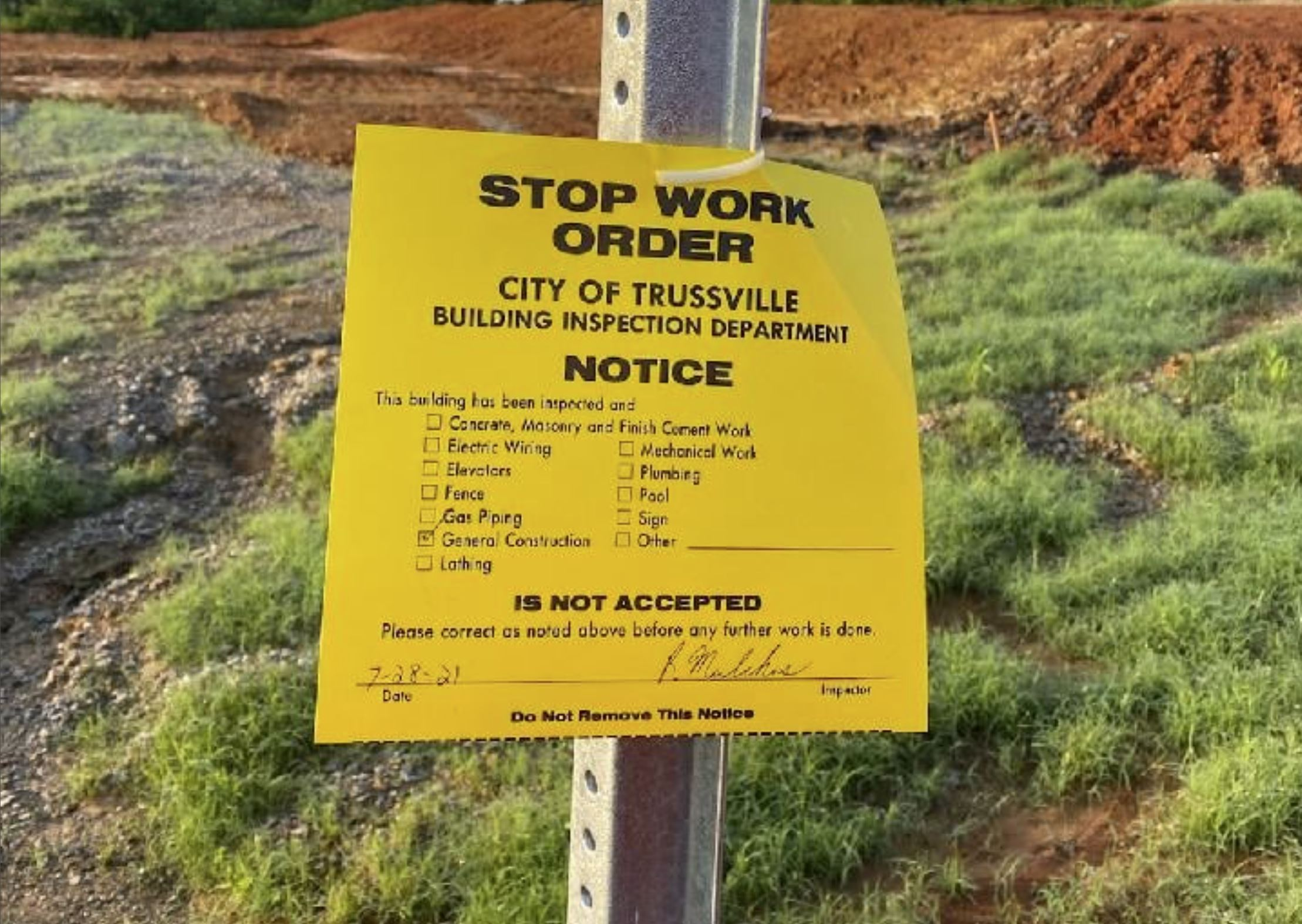 Trussville officials with Stockton developers over Windsong Lake concerns