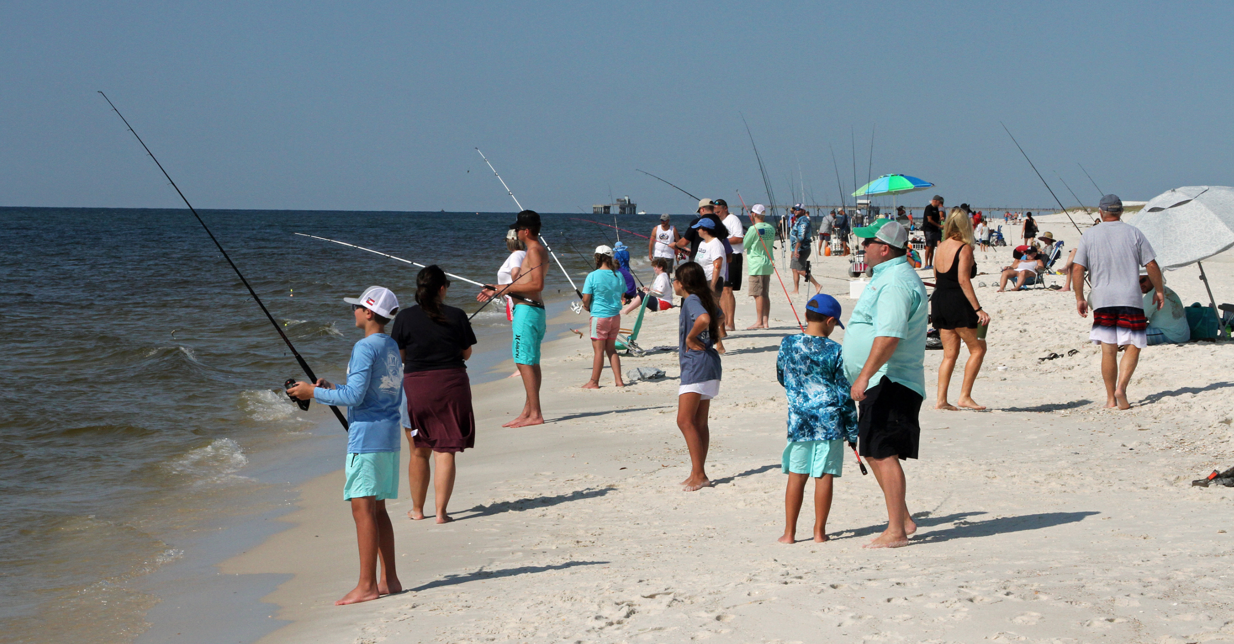 Kids learn to surf fish at Gulf State Park