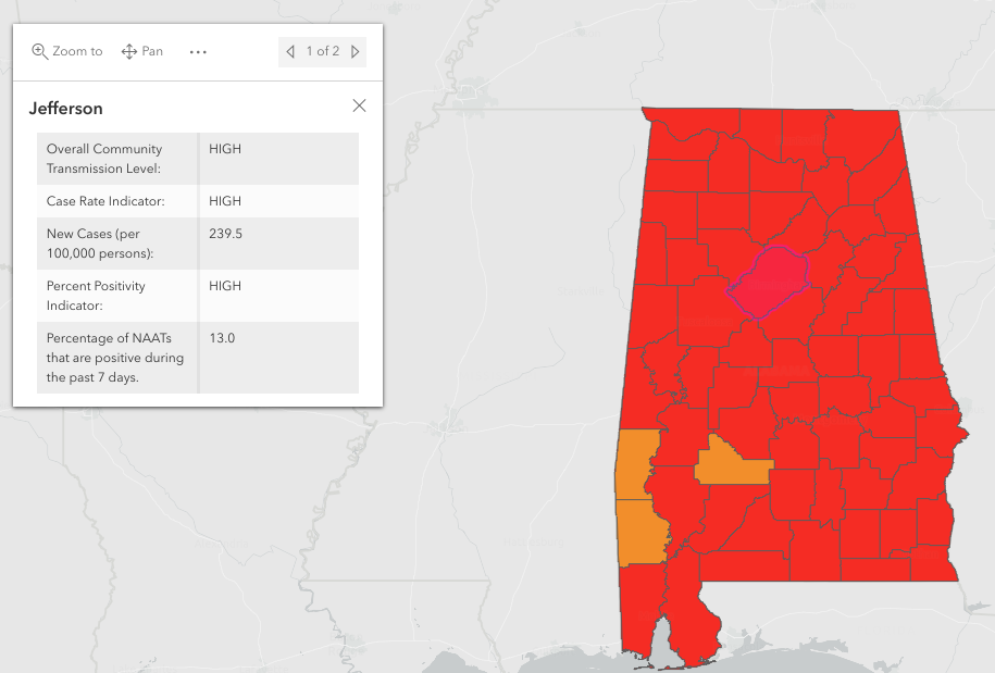 ADPH: 13,665 Alabamians have died from COVID-19