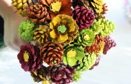 Home services: How to make a bouquet of zinnias from pine cones